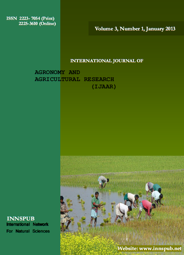 International journal of agronomy and agricultural for Soil research impact factor