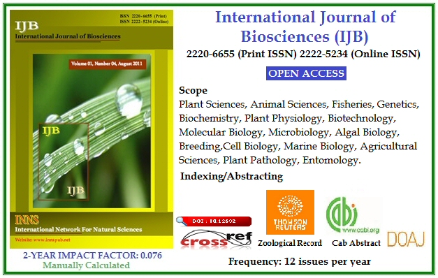 International Journal of Biosciences (IJB)